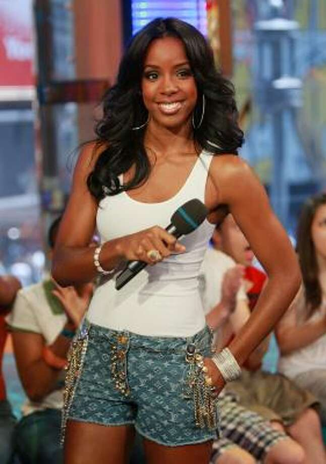 Kelly Rowland entertains the crowd at MTV Studios in New York last month. Photo: Evan Agostini, Getty Images