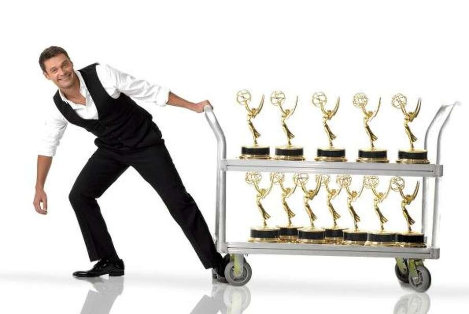 American Idolhost Ryan Seacrest hosts the 59th Primetime Emmy Awards show on Sunday. Photo: PATRICK ECCLESINE, FOX