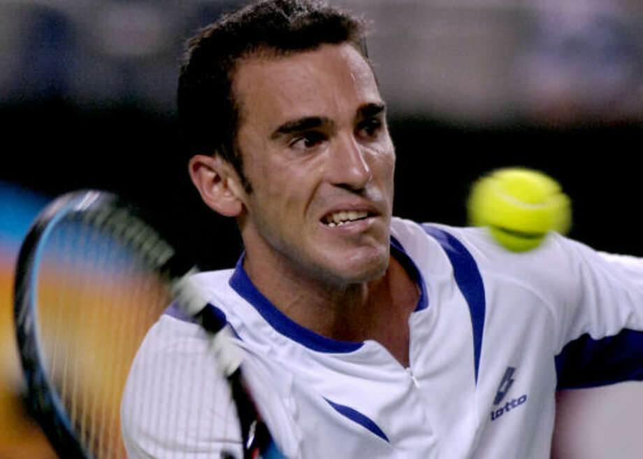 Alberto Martin of Spain failed in an attempt to knock off Andy Murray of Great Britain, but he wasn't a complete loser in Australia. Photo: STEVE HOLLAND, AP