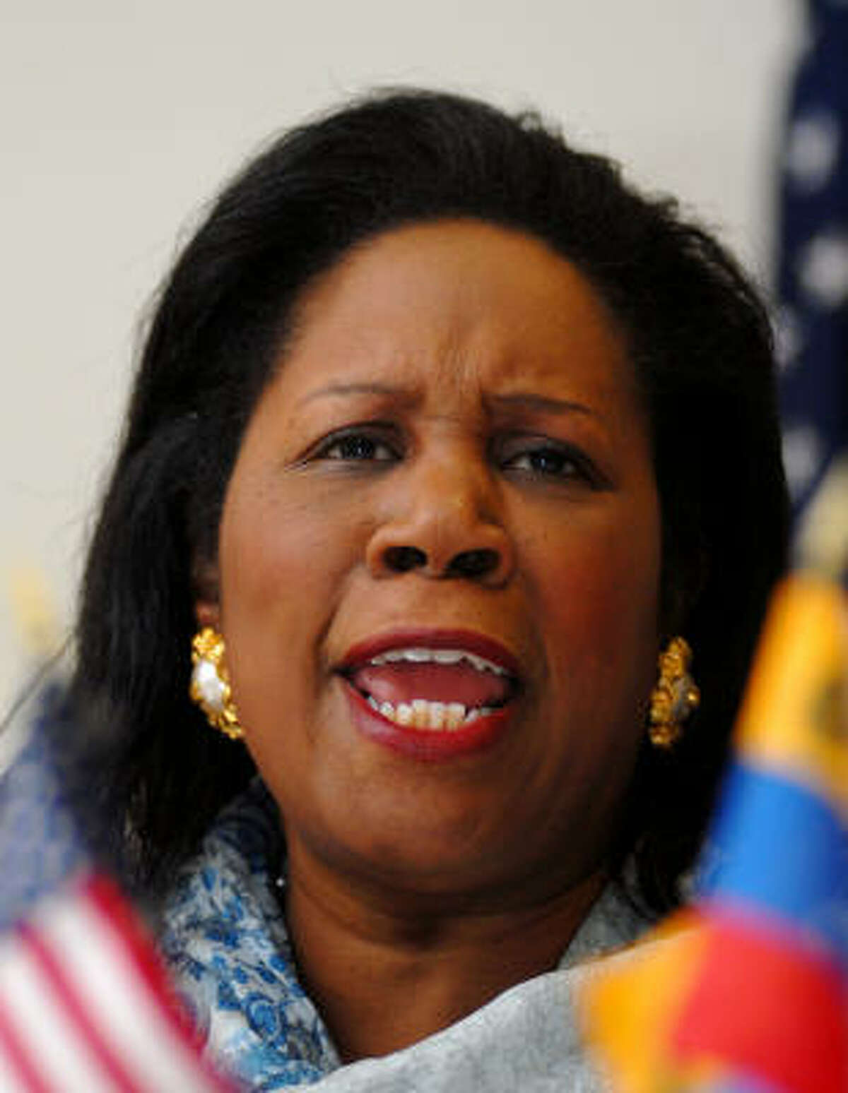 """""""Venezuela has many friends in this new Congress,"""" said Rep. Sheila Jackson Lee at the U.S. Embassy in Caracas on Wednesday."""