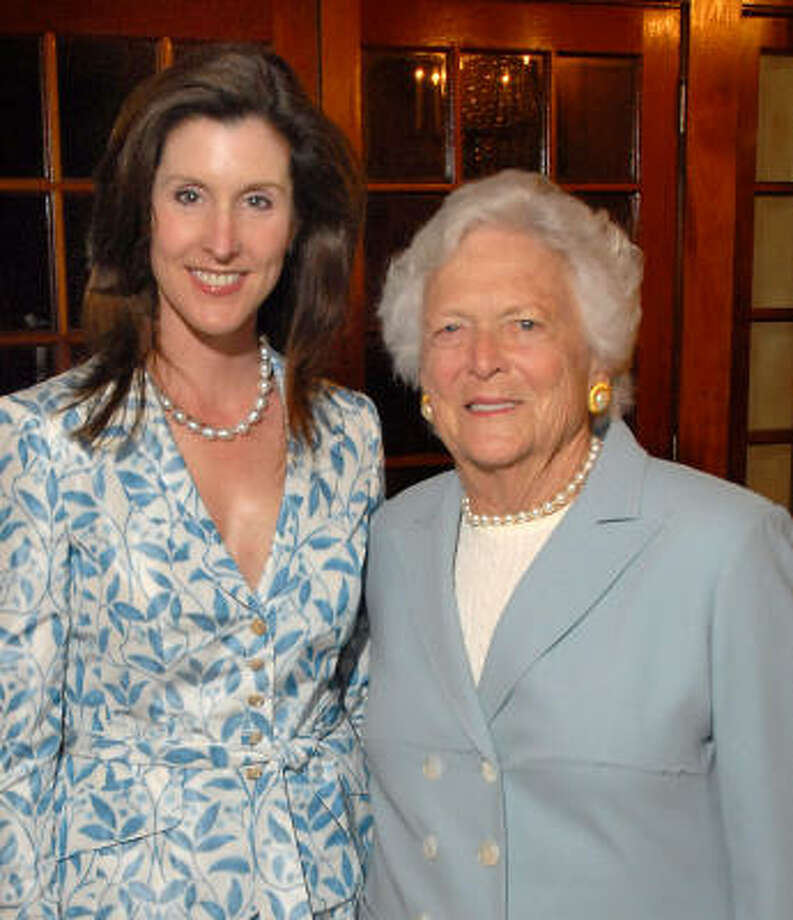 Phoebe Tudor, left, and Barbara Bush. Photo: Dave Rossman, For The Chronicle