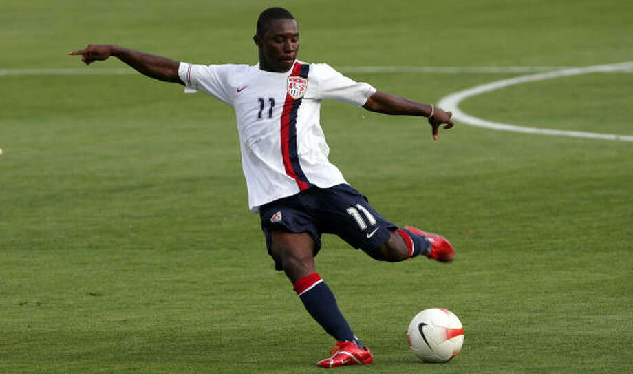 Freddy Adu will be the undisputed leader on the field for the United States at the upcoming U-20 World Cup. Photo: Stephen Dunn, Getty Images
