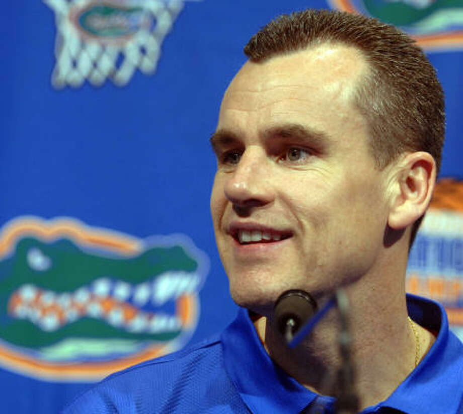 Billy Donovan said he was appreciative of Kentucky's interest in him, but that he wants to keep building on the impressive start to his tenure in Florida. Photo: Phil Sandlin, AP