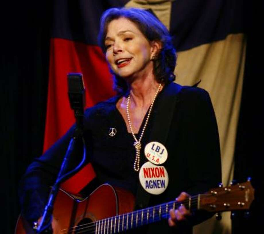 Last June, Nanci Griffith, who'll appear in For the Sake of the Song: The Story of Anderson Fair, returned to Anderson Fair for two nights of fundraising concerts. Photo: STEVE UECKERT, CHRONICLE