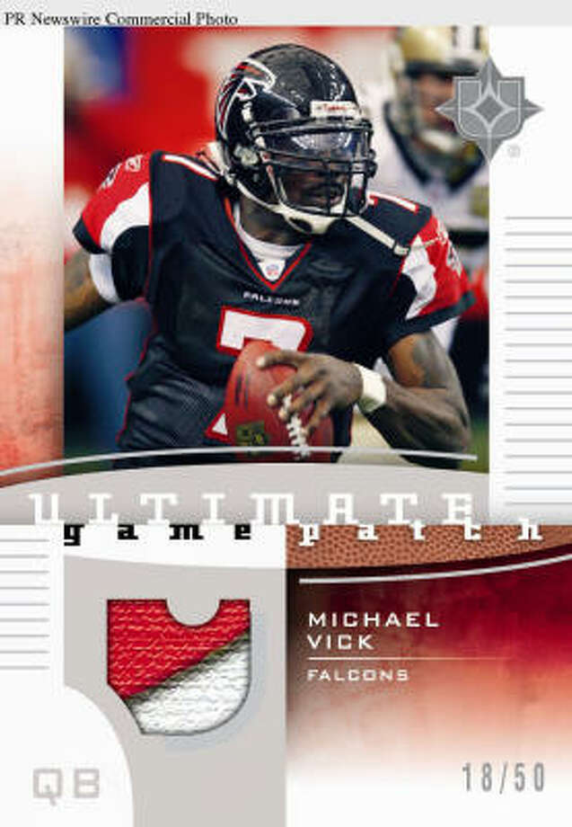 Upper Deck is the latest company to remove Michael Vick-related merchandise, joining Nike, Reebok and NFLshop.com. Photo: PR NEWSWIRE