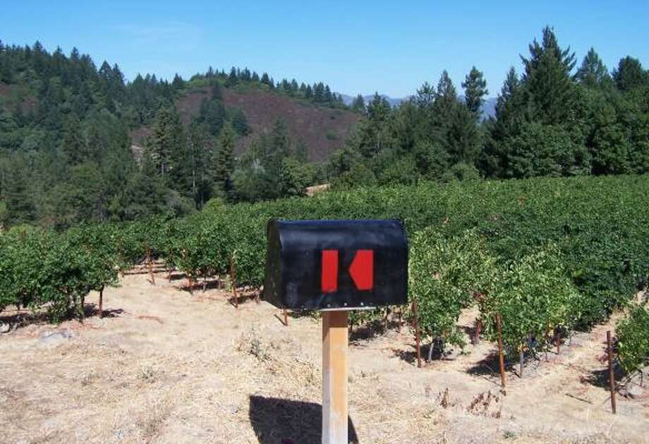 SPECIAL DELIVERY:Yes, that's a mailbox next to one of the Keenan Winery vineyards high up Spring Mountain on the west side of California's Napa Valley. The vineyard produces the best lots of Keenan merlot. Photo: KEENAN WINERY