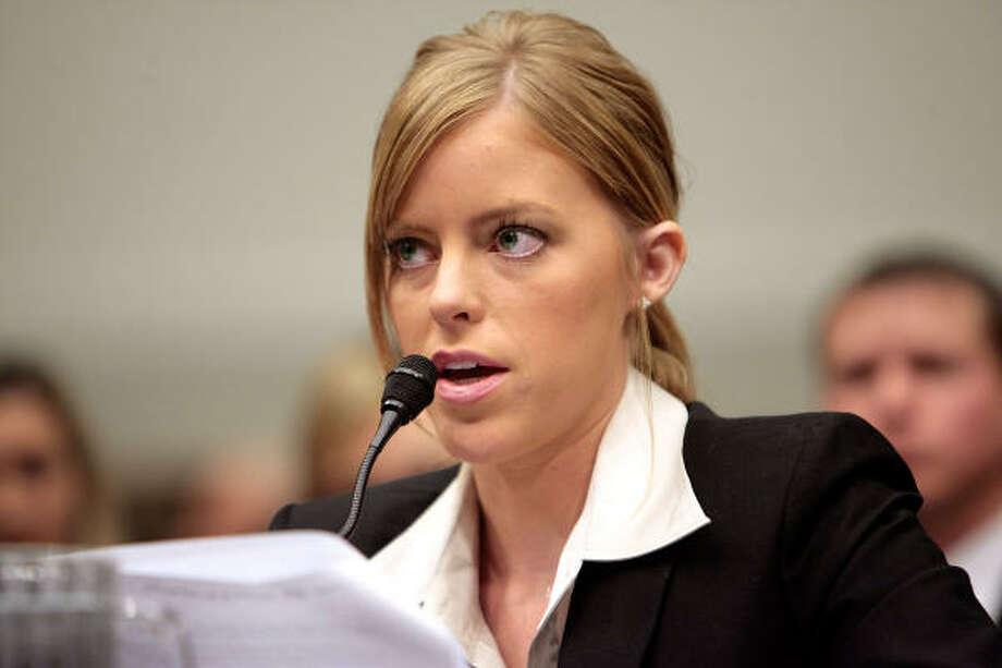 Jamie Leigh Jones testifies before the House subcommittee on Crime, Terrorism and Homeland Security on Wednesday about her alleged gang rape two years ago in Baghdad. Photo: Chip Somodevilla, Getty Images
