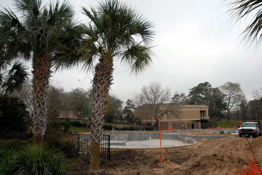A new pool is under construction at Lakeside Country Club. Photo: Dave Rossman, For The Chronicle