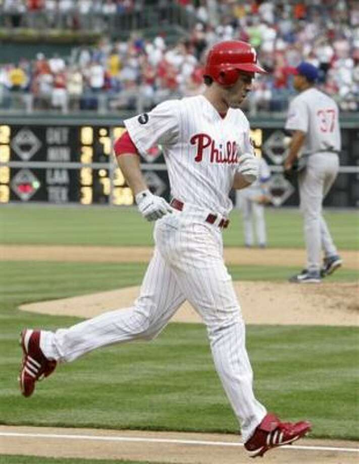 Philadelphia's Chase Utley homered in the sixth. Photo: Rusty Kennedy, AP