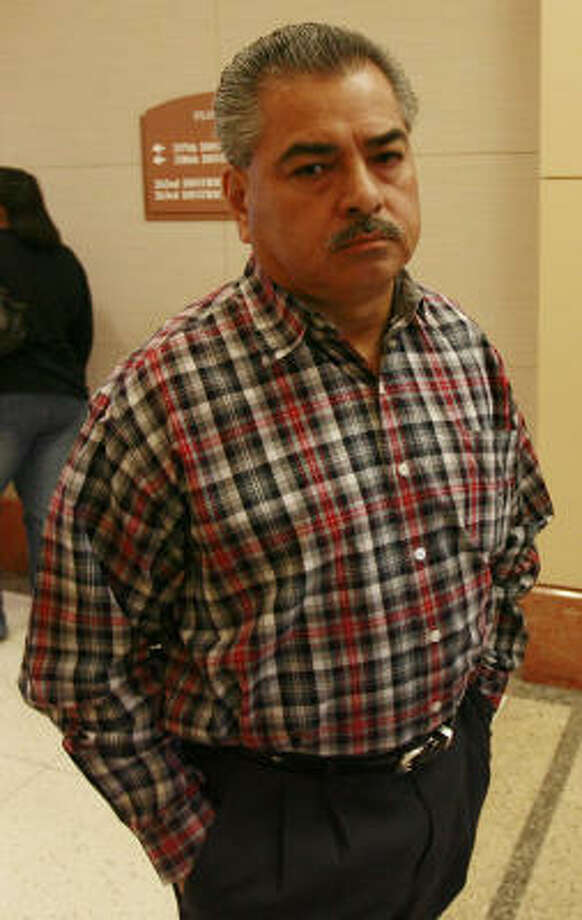 Houston Police Officer Alfred Alaniz in court in Houston in February. Photo: Chronicle File