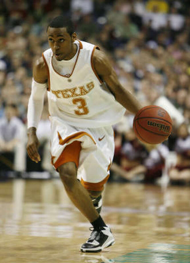 A.J. Abrams is the veteran in Texas' starting lineup. As a sophomore, he's the only non-freshman in the Longhorns' starting five. Photo: James Nielsen, Chronicle