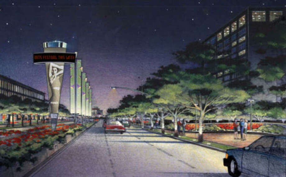 "Here is an artist's rendering of a ""Livable Center"" in the Houston Uptown area. Photo: Gulf Coast Institute"