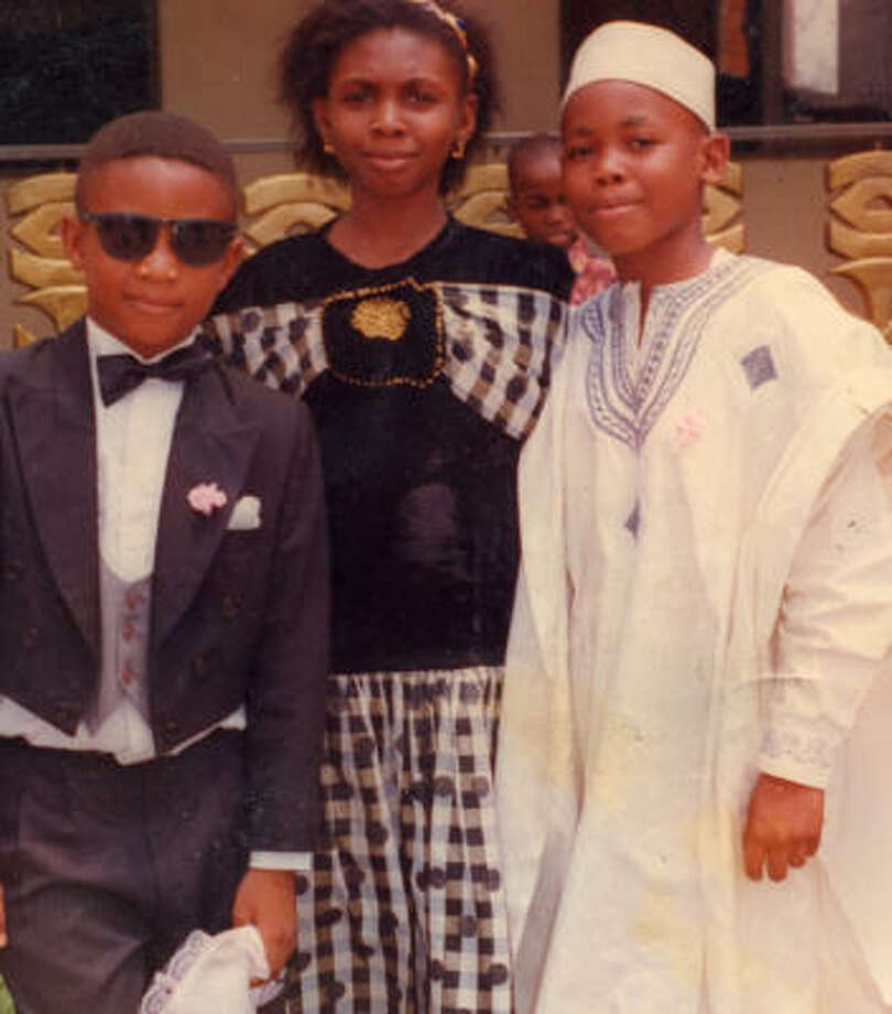 Members of the Okoye family gather for a photo. The children were often kept home from school in Nigeria as their mother feared for their safety. Photo: Okoye Family Photo