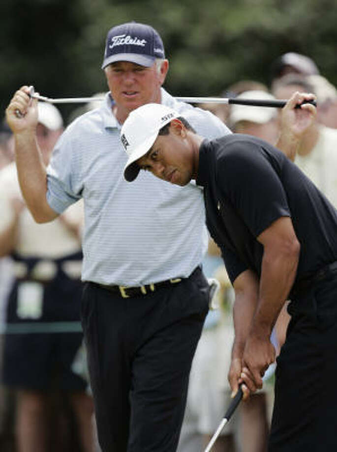 Tiger Woods, 31, holds the 72-hole Masters scoring record of 18-under-par 270. Photo: Chris O'Meara, AP