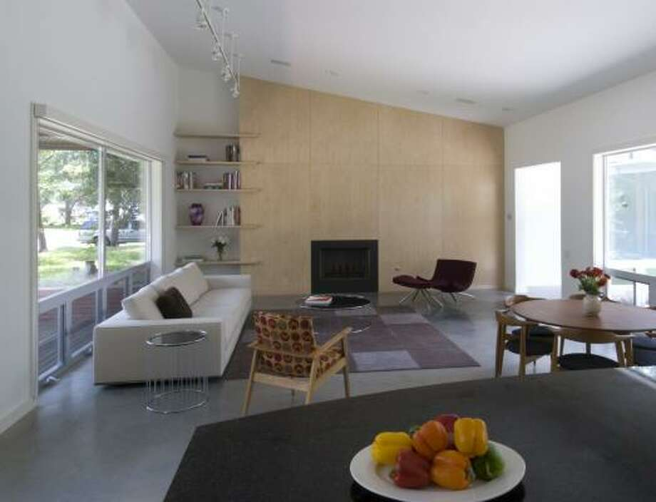 The Salazars chose concrete floors for their house. Photo: Hester + Hardaway