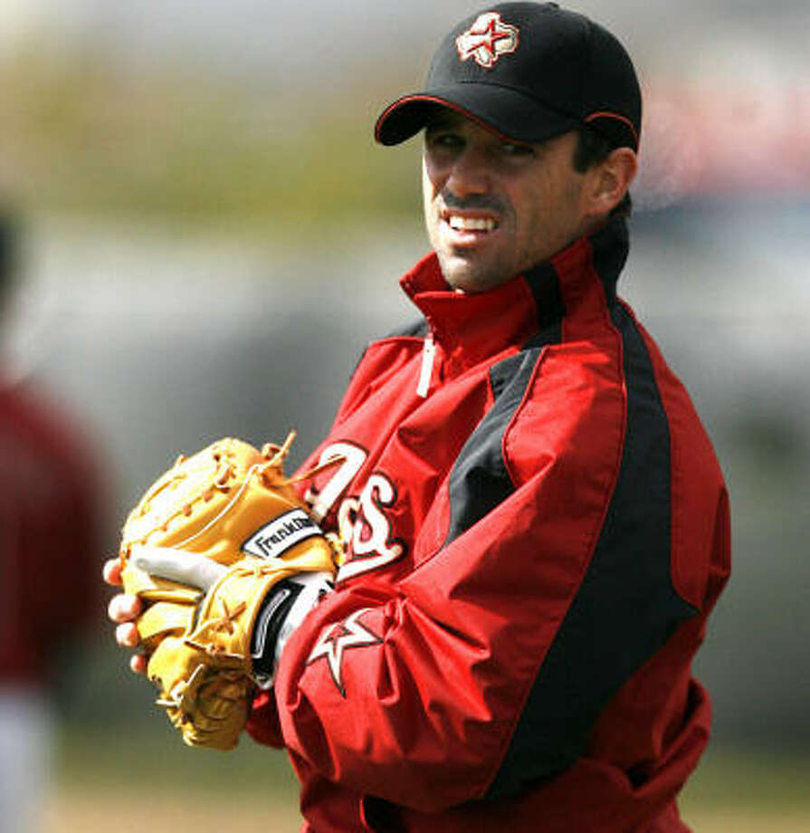 Roger Clemens once required pitching to Brad Ausmus as a condition of his service. Photo: Billy Smith II, CHRONICLE