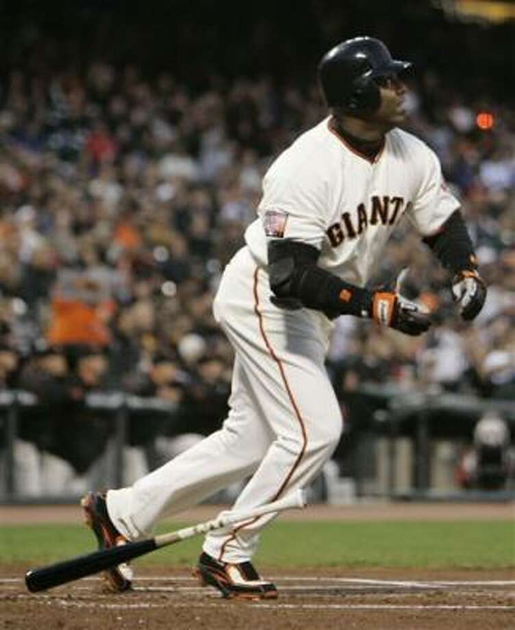 The real countdown begins at 750 homers, Barry Bonds says. Photo: Eric Risberg, AP