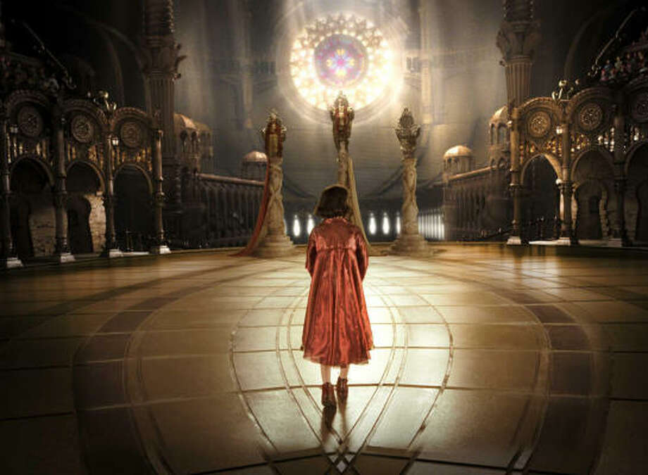 Ofelia (Ivana Baquero), a young girl living in an imaginary world of her own, finds a stone labyrinth that may lead to salvation in Pan's Labyrinth. Photo: Courtesy Photo