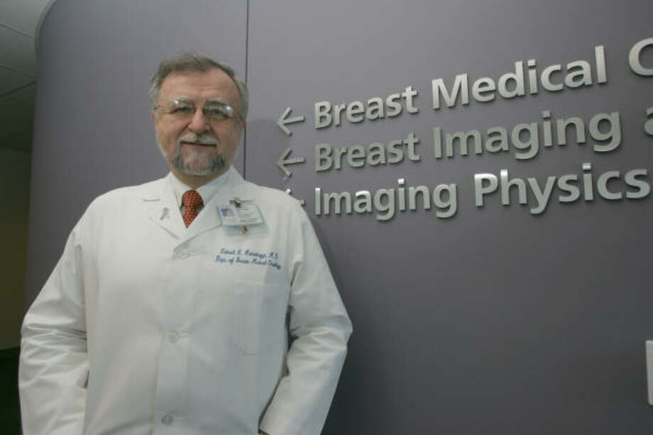 Dr. Gabriel Hortobagyi, chairman of the University of Texas M.D. Anderson Cancer Center's breast cancer department, sees tailor-made medicine in five to seven years. Photo: Margaret Bowles, For The Chronicle