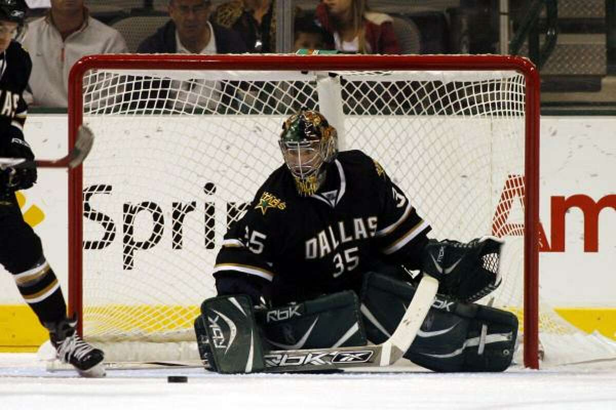 Goalie Marty Turco will have to be strong in net if the Stars want to reach their goal of winning the Western Conference this season.