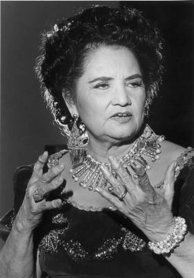Lydia Mendoza, shown in 1982, recorded more than 200 songs on more than 50 albums. Photo: Timothy Bullard, Chronicle File