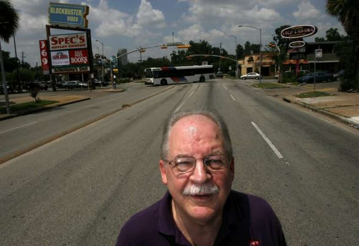 Steve Buck, manager at the Spec's Liquor Store on Westheimer near Montrose, says Google's Street View feature will help customers find his store's location.