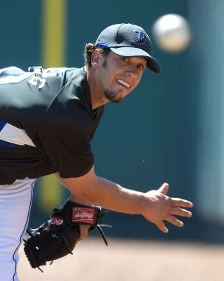 James Shields is expected to pitch for the Devil Rays against the Astros on Sunday. Photo: Steve Nesius, AP