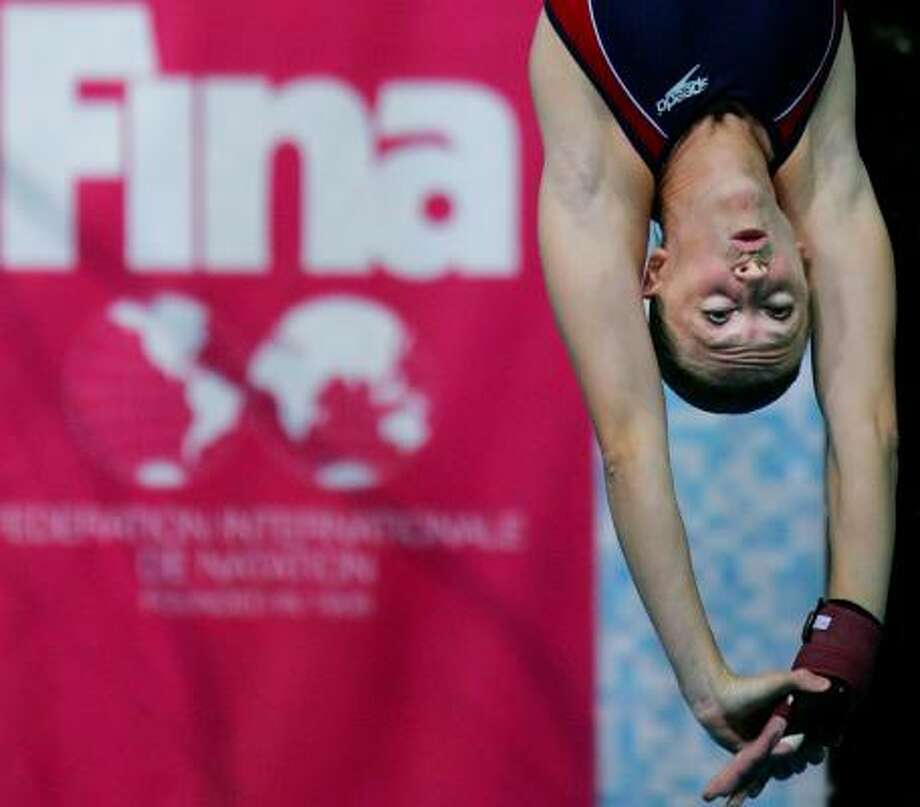 In March, Laura Wilkinson, diving in the world championships in Melbourne, Australia (pictured), placed fourth. But she dominated the National Diving Championships last week at Stanford, Calif., showing she is back at full strength. Photo: ITSUO INOUYE, ASSOCIATED PRESS