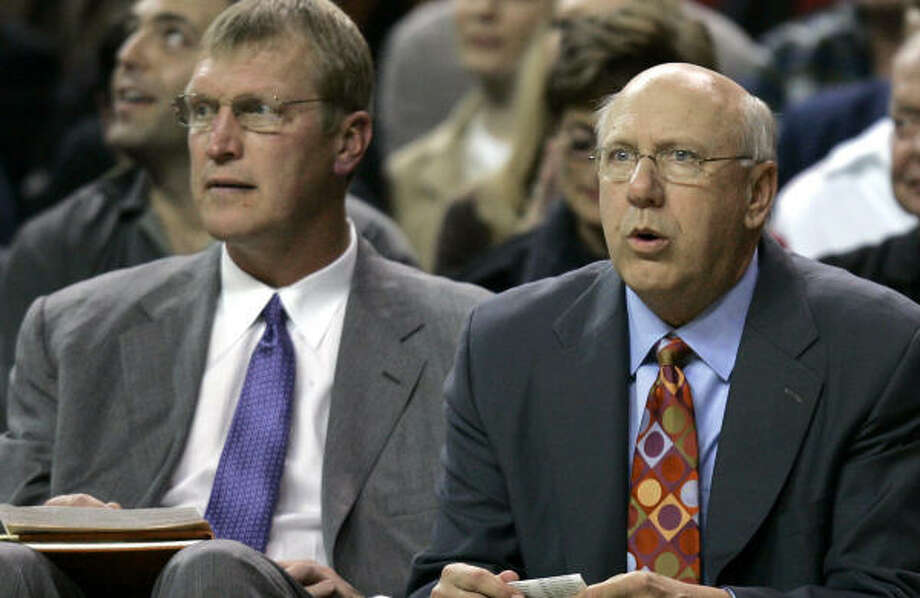 Former Sonics All-Star Jack Sikma, left, will be part of Rick Adelman's Rockets' coaching staff. Photo: TED S. WARREN, AP