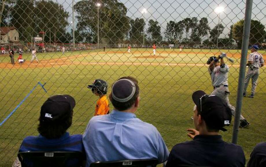 The broadcasters might have struggled with terminology, but there was no mistaking the crack of the bat for Israelis watching the opening game of the Israel Baseball League. Photo: MOTI MILROD, ASSOCIATED PRESS