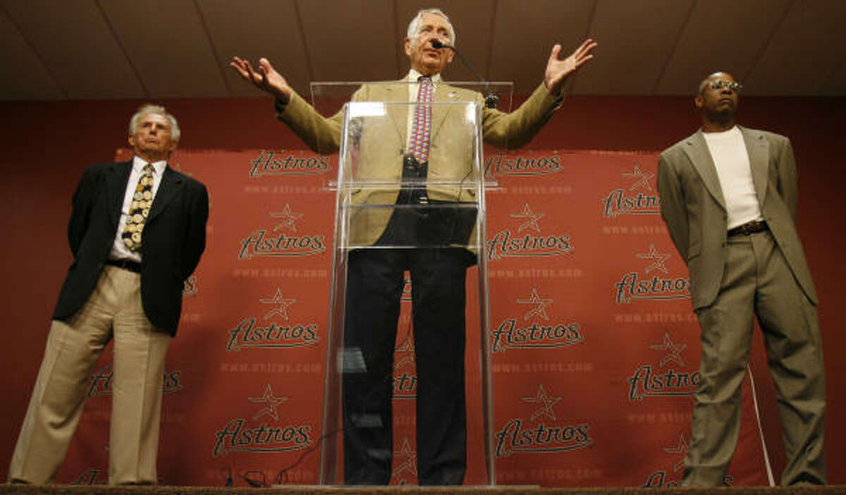 Astros owner Drayton McLane is moving forward after suffering through a mostly disapointing season.
