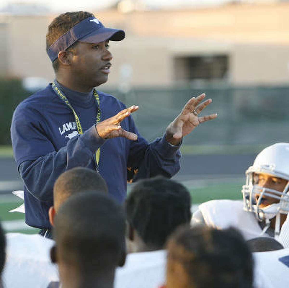 """Lamar Consolidated coach Lydell Wilson says it's """"great to see someone doing it at the highest level"""" — the Super Bowl."""