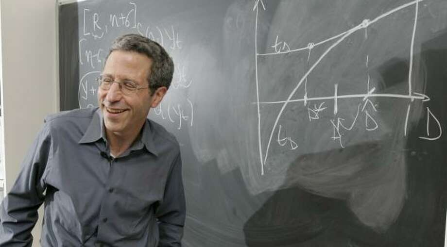 Eric Maskin, a professor at the Institute for Advanced Study in Princeton, N.J., is one of three economists who were named winners of the Nobel Memorial Prize in Economic Science for his work on mechanism design theory. Photo: MIKE DERER, ASSOCIATED PRESS