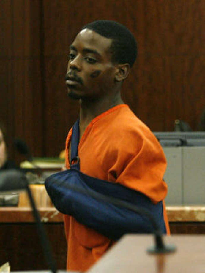 Dennis Lamont Evans, 24, makes an appearance in the 338th courtroom of the  Harris County Criminal Courthouse today. He is charged with felony murder and possession of a controlled substance in connection with the Tuesday morning death of Rikki Danielle Sanchez, 24. Photo: Billy Smith II, CHRONICLE