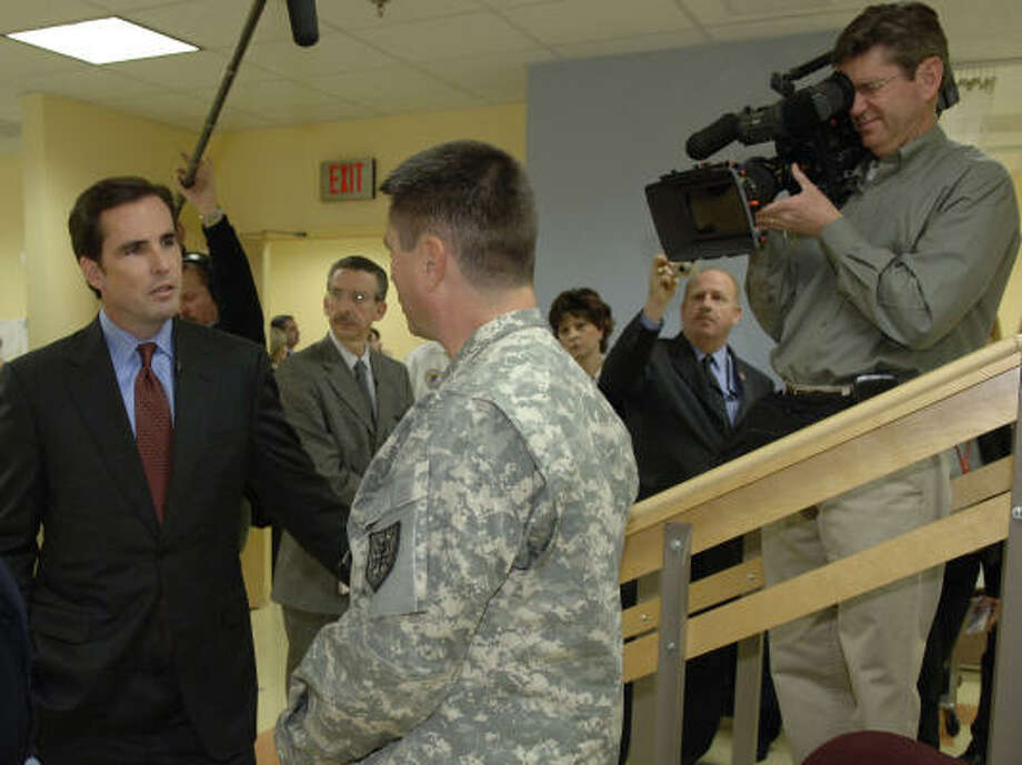In To Iraq and Back, ABC's Bob Woodruff interviews brain-injured Iraq War veterans undergoing rehabilitation at the Veterans Administration Medical Center in Washington, D.C. Photo: ABC