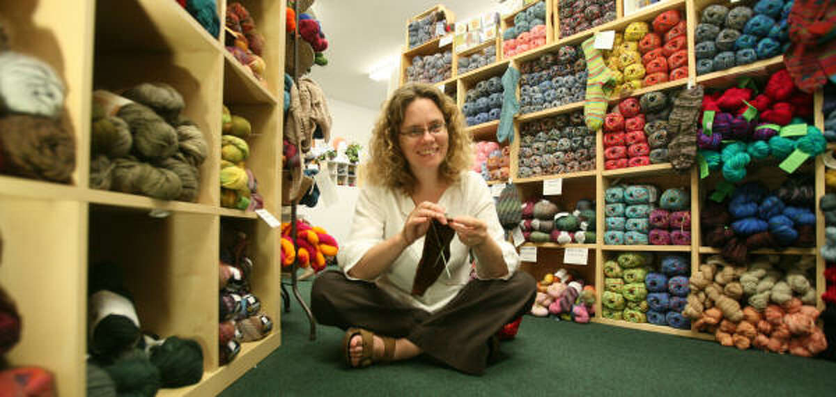 Stephanie Pearl-McPhee is the author of multiple books and the Yarn Harlot blog. In town to promote her latest book, she made an appearance at the Twisted Yarns store in Spring.
