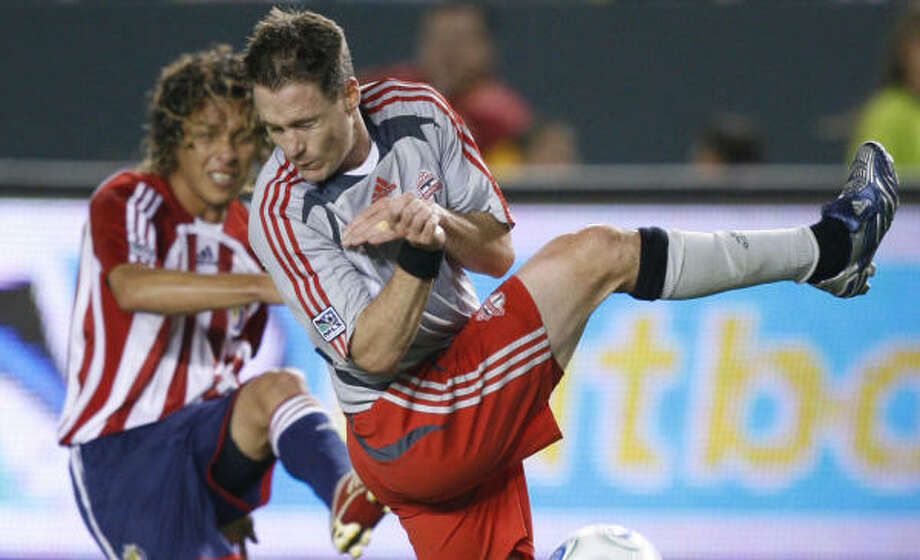 Richard Mulrooney is expected to join the Dynamo for their game against the New York Red Bulls. Photo: Mark Avery, AP