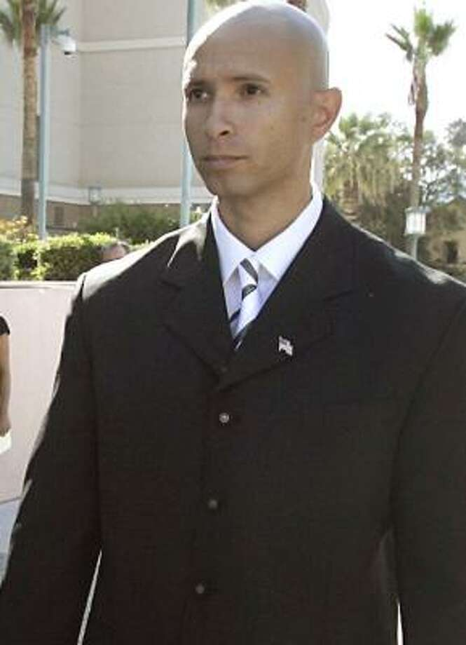 Former Marine Sgt. Jose Nazario Jr. leaves federal court last month after pleading not guilty to voluntary manslaughter in Riverside, Calif. Photo: SILVIA FLORES, THE PRESS-ENTERPRISE FILE