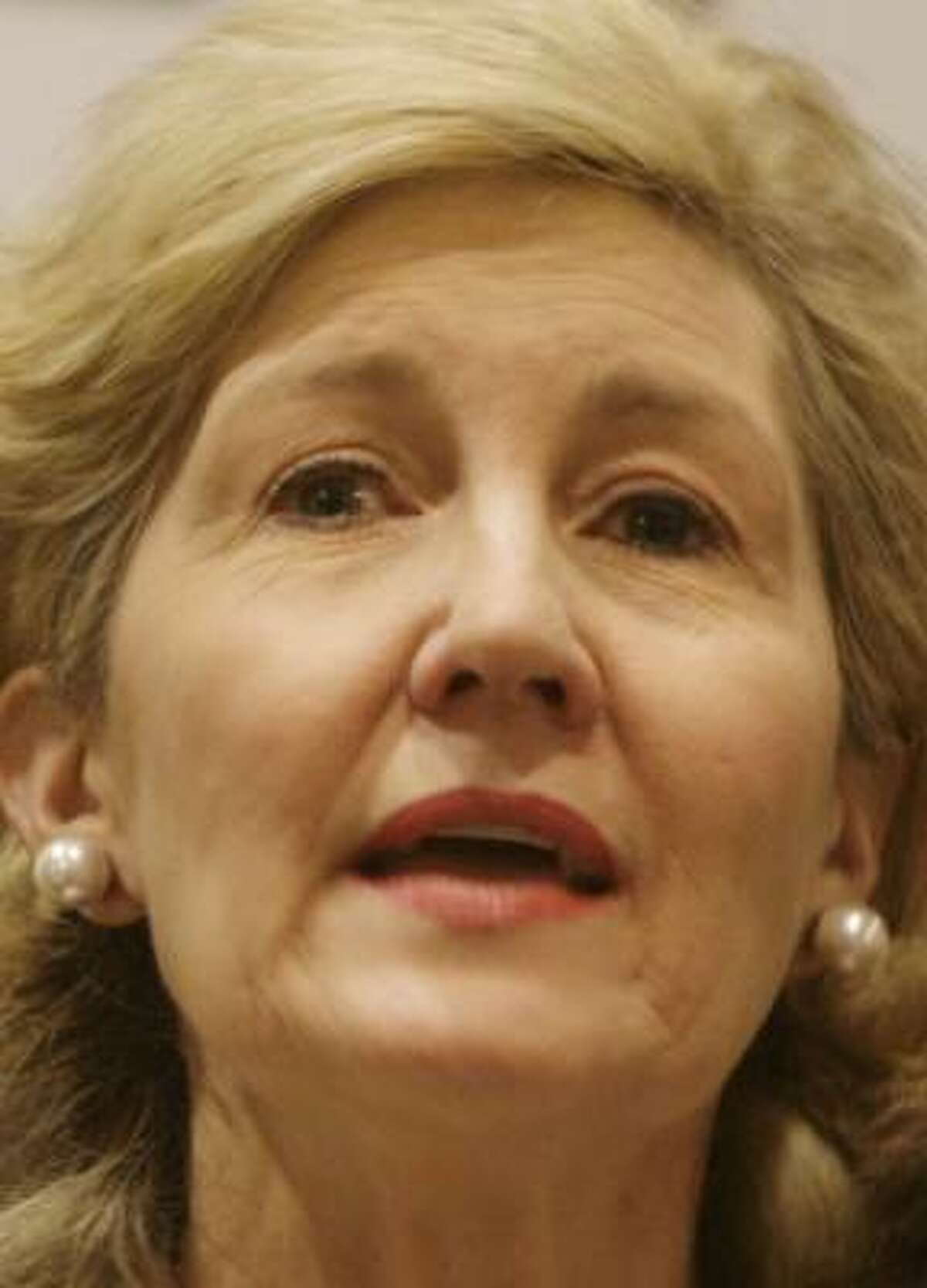 Kay Bailey Hutchison was first elected to the Senate in 1993.