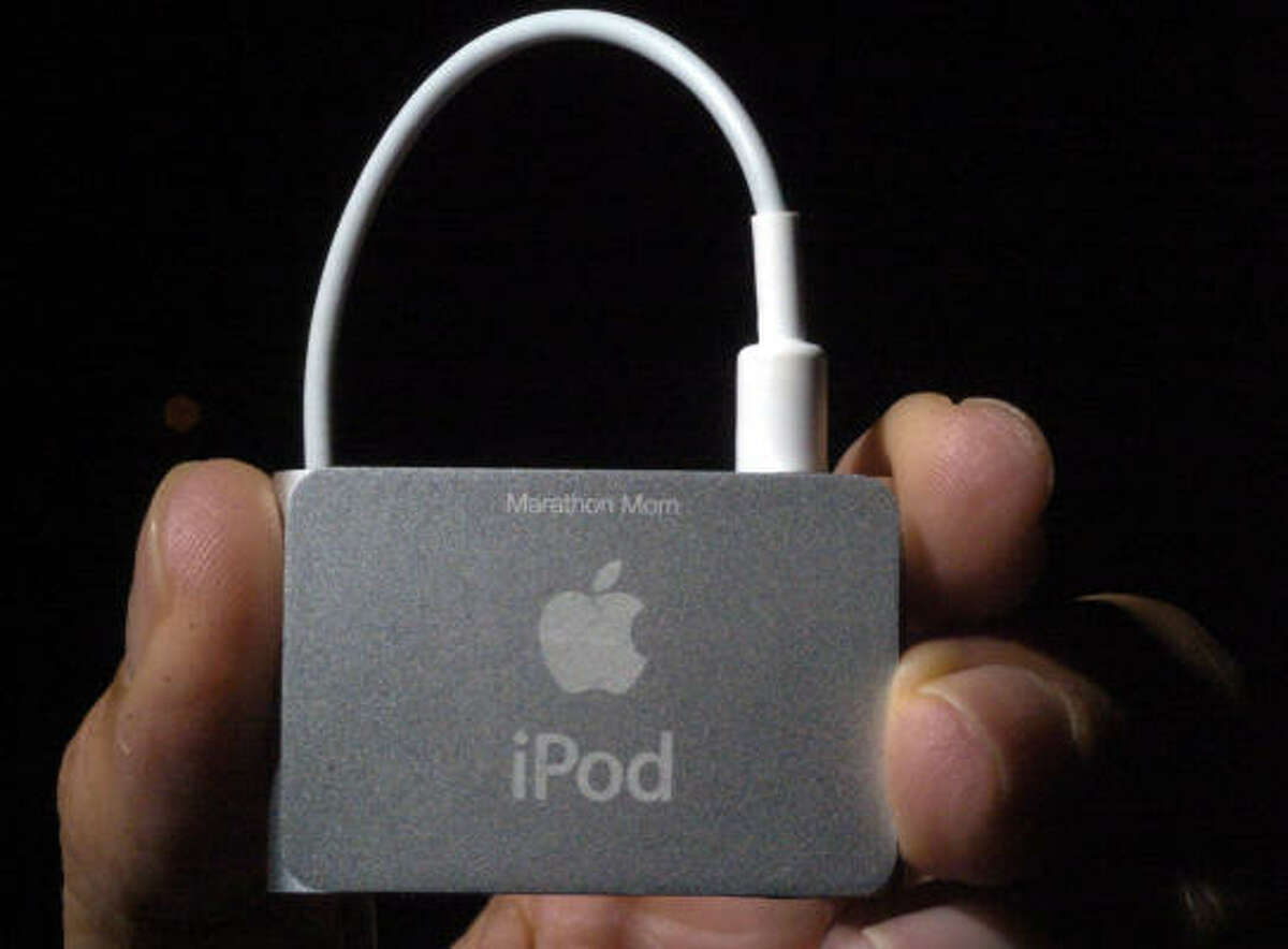 Ana Petrick's iPod Shuffle is engraved with