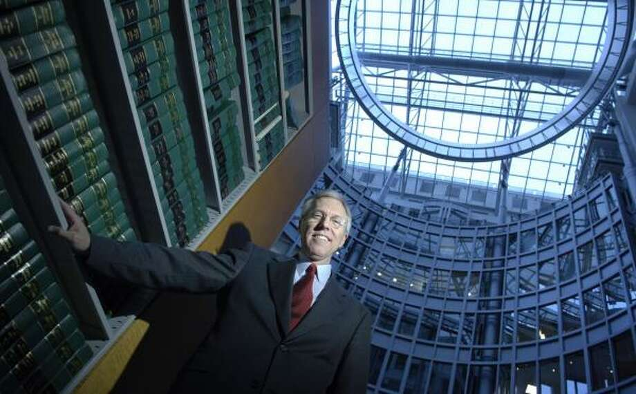 """Former Texas lawmaker Jim Turner, now with the Washington law firm Arnold & Porter, is attempting to bring a bio-defense lab to his home state. """"It is a real prize,"""" he says. Photo: JONATHAN ERNST, FOR THE CHRONICLE"""