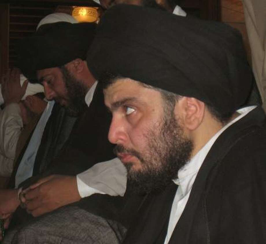 Radical Shiite cleric Muqtada al-Sadr remains a threat to Iraq peace as Shiites battle for control of oil fields. Photo: ALAA AL-MARJANI, AP FILE
