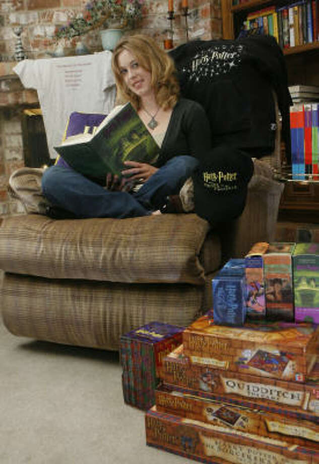 Laura Ann Lindholm, a longtime fan of the Harry Potter books, grew up reading the series. Photo: Steve Campbell, Houston Chronicle