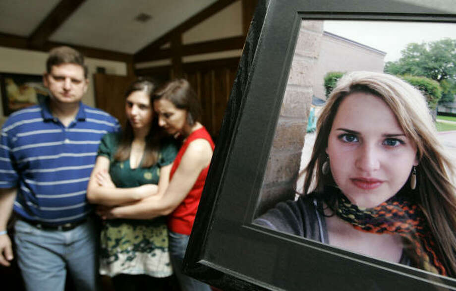 The family of 17-year-old Katie Bolka — her father, Rick, sister Nina and her mother, Johna — pushed Texas lawmakers to pass new restrictions for senior drivers after the Dallas teen's car was hit by a 90-year-old driver at an intersection. Photo: Tony Gutierrez, Associated Press