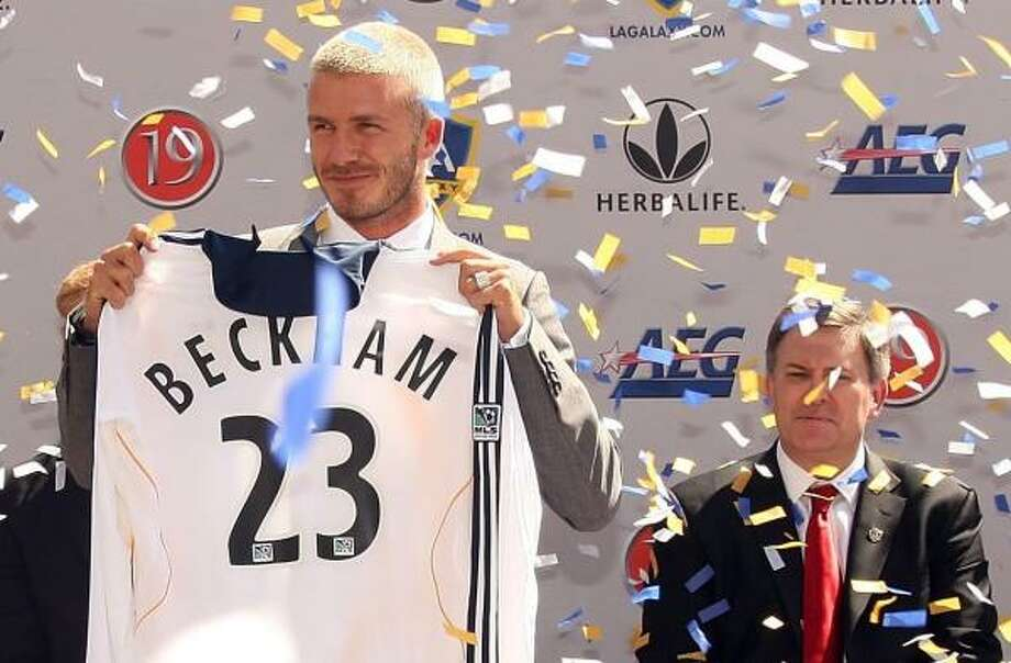 Soccer fans won't see David Beckham wearing No. 23 until a July 21 exhibition match with Chelsea FC. Photo: Frazer Harrison, Getty Images