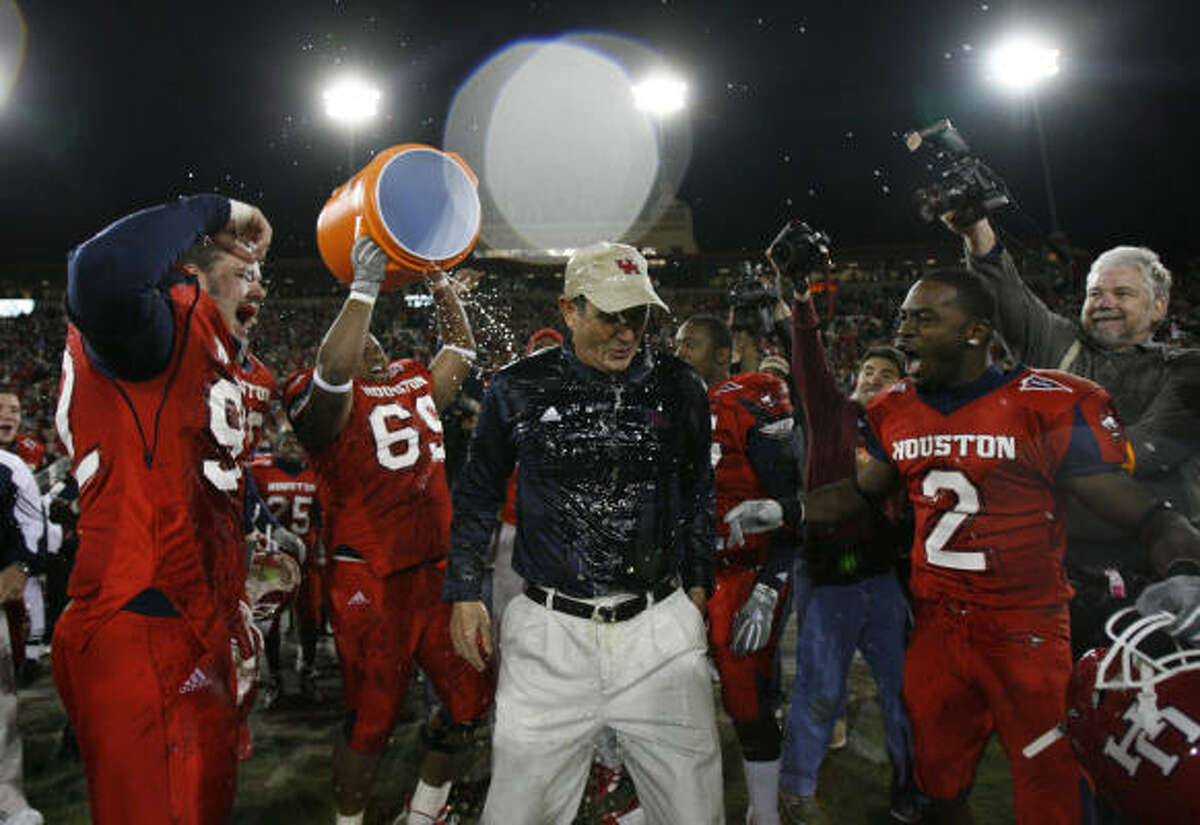 Coach Art Briles has made a big splash during his four years at UH, which includes a Conference USA title.