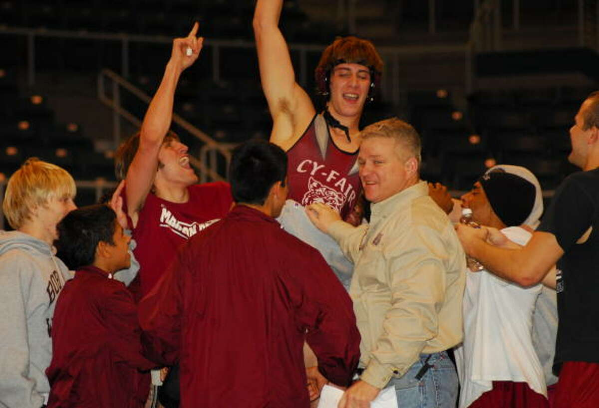 Cy-Fair wrestling coach John Banas led the Bobcats to a third-place finish at th 2007 Texas State Dual Championships on Saturday in Katy.
