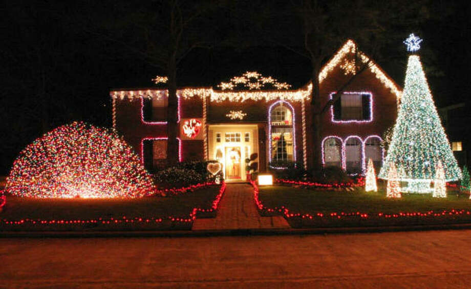 james d schuck 24603 stoughton court designed and built all of his christmas decorations - Christmas Decorations Houston