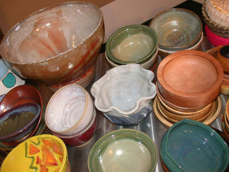 The Empty Bowls Houston event, set this year for May 16, raises money for the Houston Food Bank by serving soup in bowls made and donated by local potters, students and others. Photo: Tom Callins