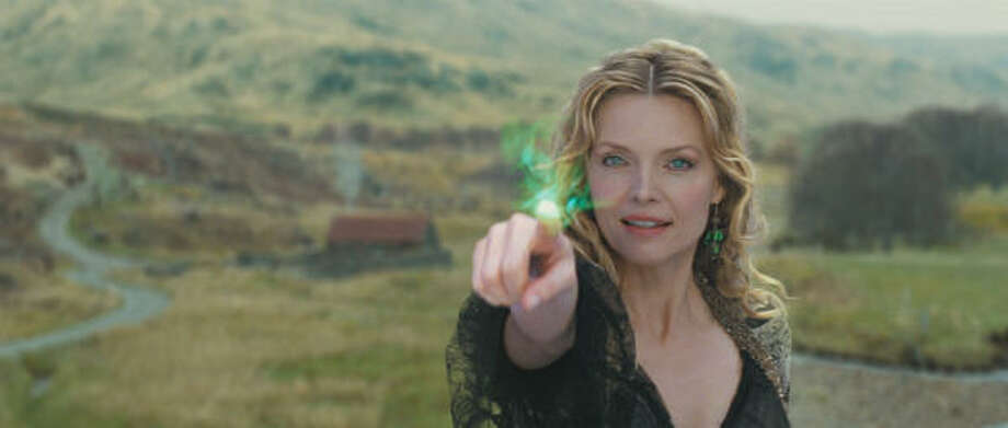 Evil witch Lamia (Michelle Pfeiffer) plots to find a fallen star in Stardust. Photo: Courtesy Photo